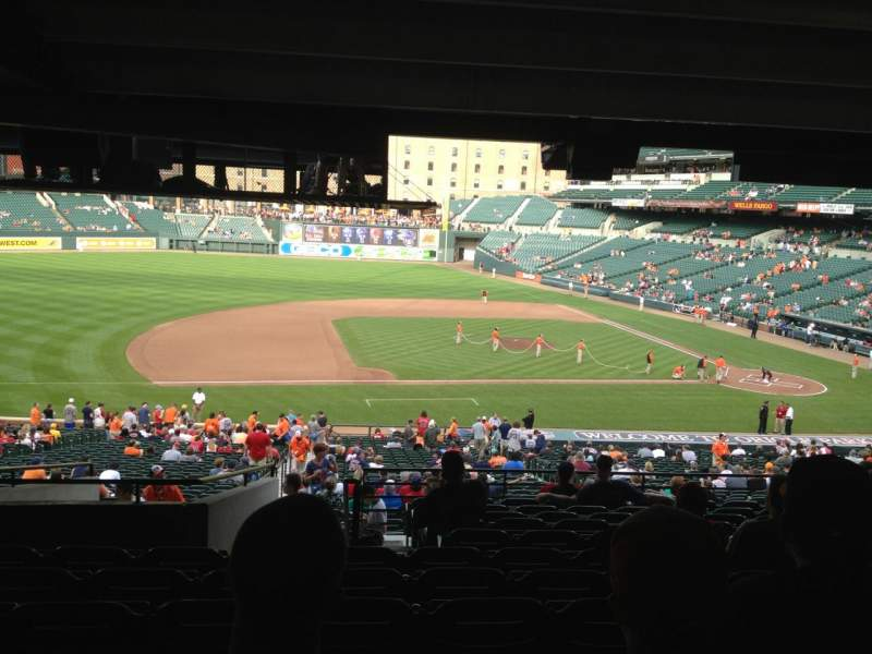 Seating view for Oriole Park at Camden Yards Section 53 Row 12 Seat 18