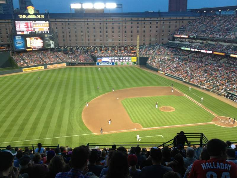 Oriole Park At Camden Yards Section 356 Home Of