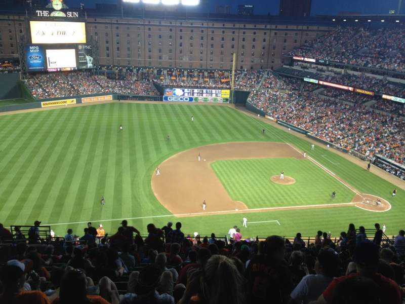 Seating view for Oriole Park at Camden Yards Section 356 Row 25 Seat 17