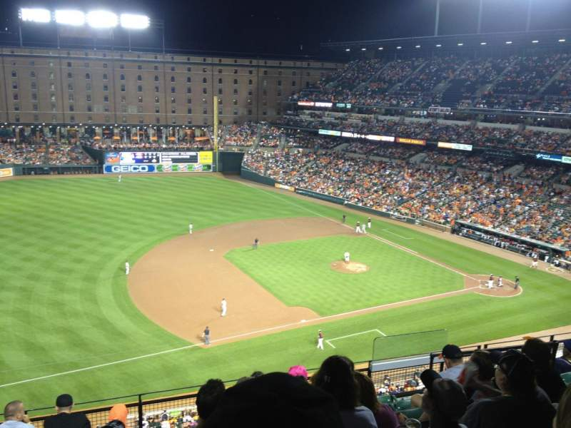 Seating view for Oriole Park at Camden Yards Section 360 Row 8 Seat 4