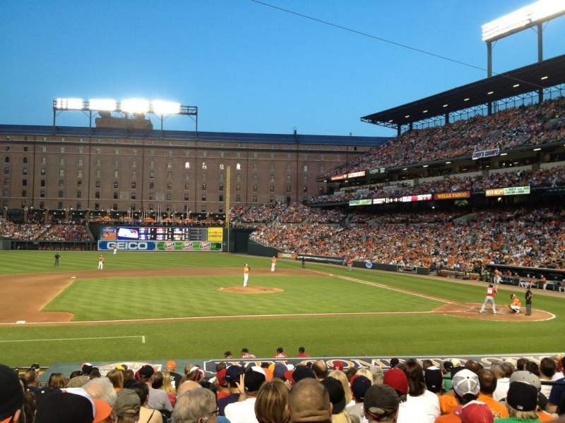 Seating view for Oriole Park at Camden Yards Section 52 Row 15 Seat 6