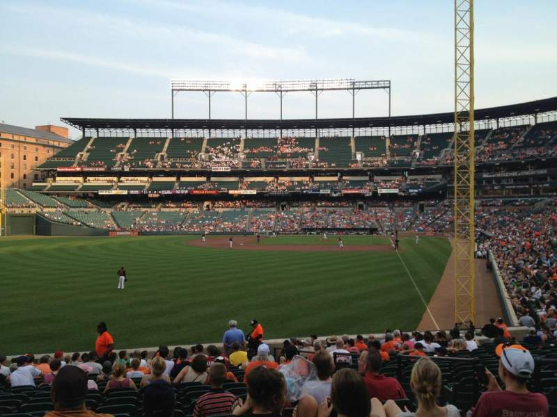 Seating view for Oriole Park at Camden Yards Section 76 Row 21 Seat 5