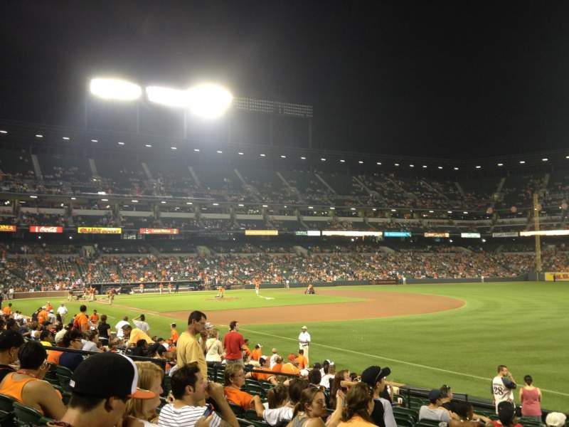 Seating view for Oriole Park at Camden Yards Section 10 Row 16 Seat 2