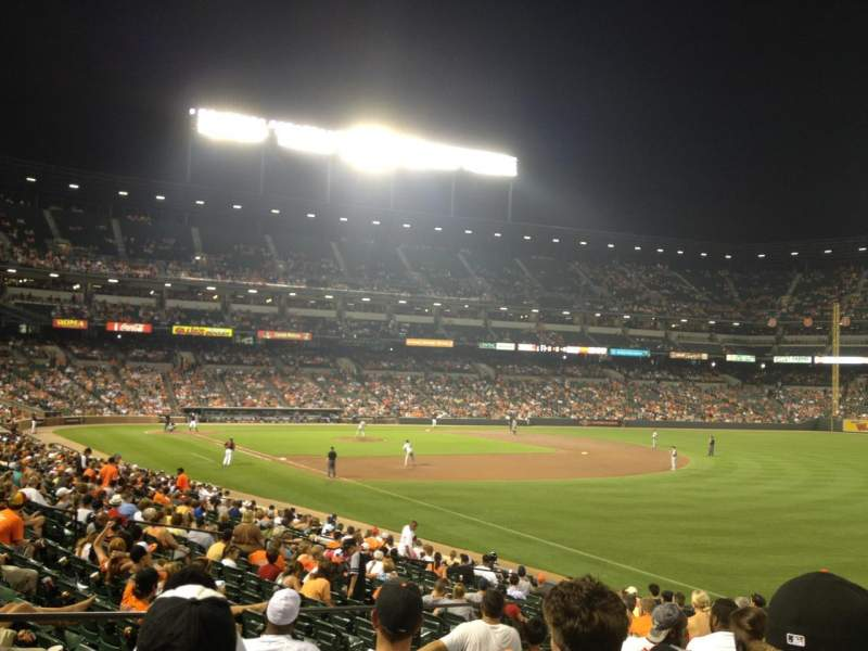 Seating view for Oriole Park at Camden Yards Section 8 Row 24 Seat 18