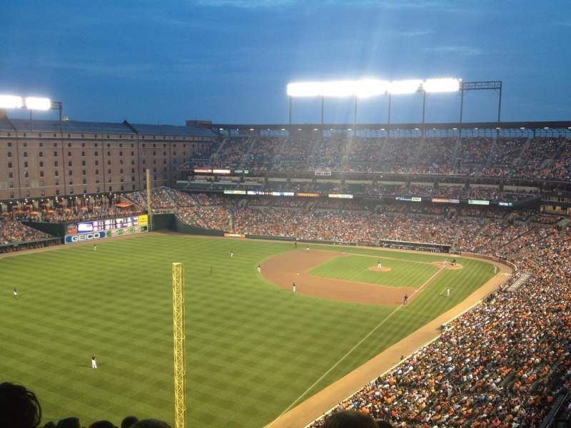 Seating view for Oriole Park at Camden Yards Section 376 Row 18 Seat 7