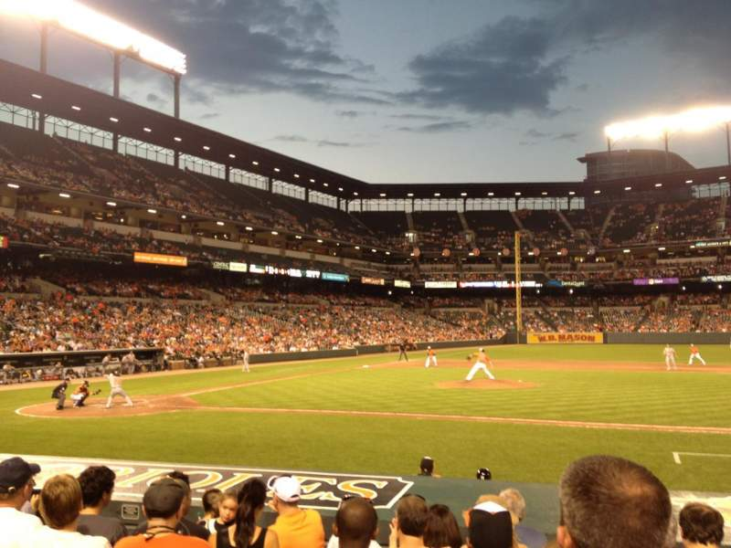 Seating view for Oriole Park at Camden Yards Section 22 Row 7 Seat 6