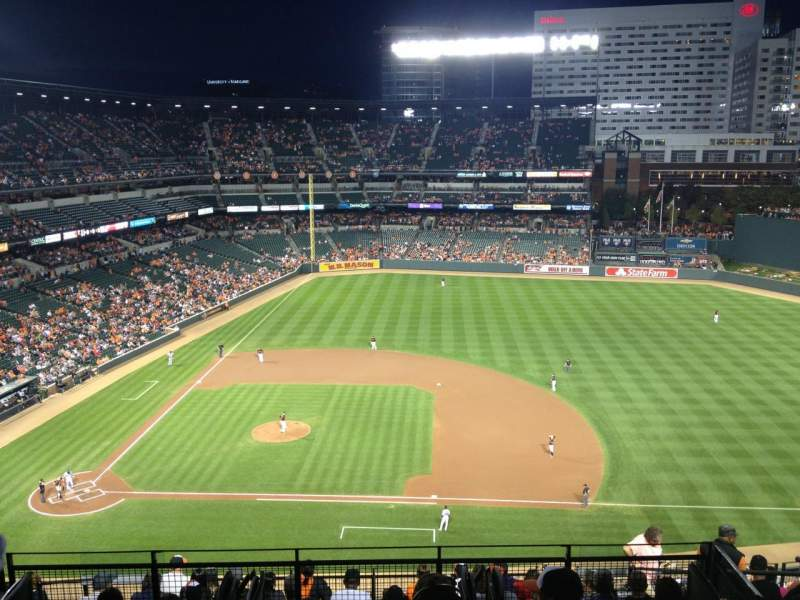Seating view for Oriole Park at Camden Yards Section 322 Row 13 Seat 11
