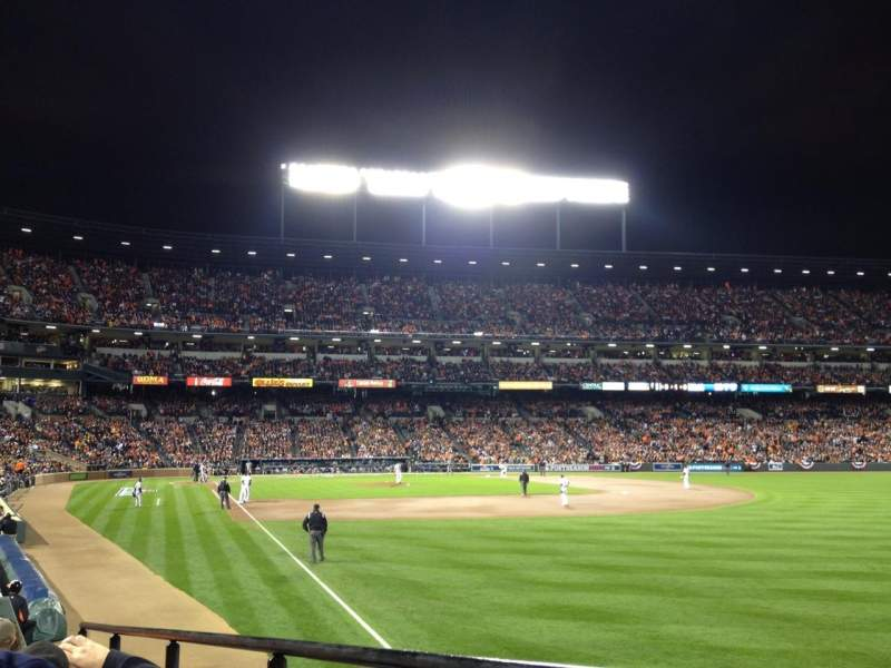 Seating view for Oriole Park at Camden Yards Section 6 Row 13 Seat 1