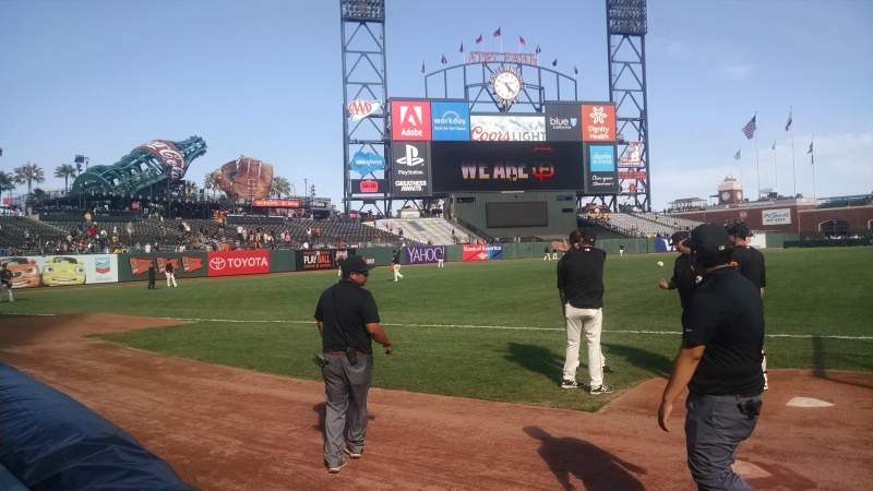 Seating view for Oracle Park Section 127 Row 1 Seat 4