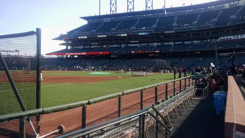 Seating view for AT&T Park Section 127 Row 1 Seat 1