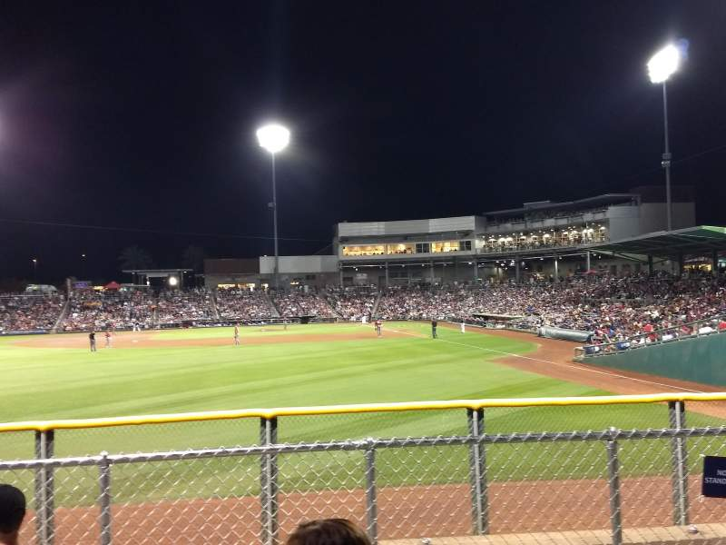 Seating view for Goodyear Ballpark Section Berm