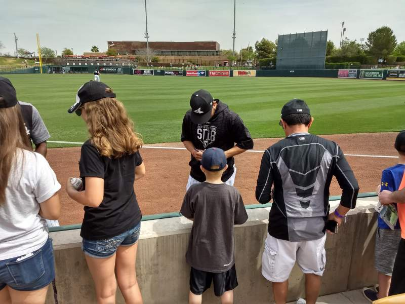 Seating view for Camelback Ranch Section 4 Row 1