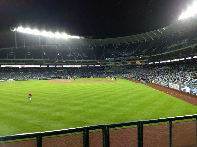 Seating view for Kauffman Stadium Section 104 Row a Seat 14