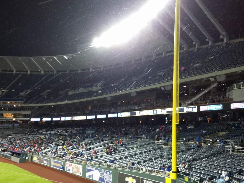 Seating view for Kauffman Stadium Section 104 Row a Seat 11
