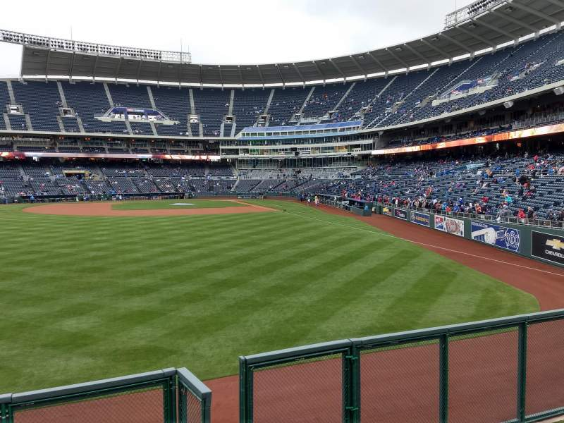 Seating view for Kauffman Stadium Section 104 Row a Seat 13
