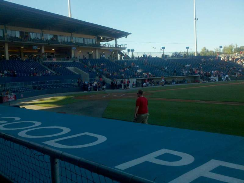 Seating view for Coolray Field Section 109 Row D Seat 10