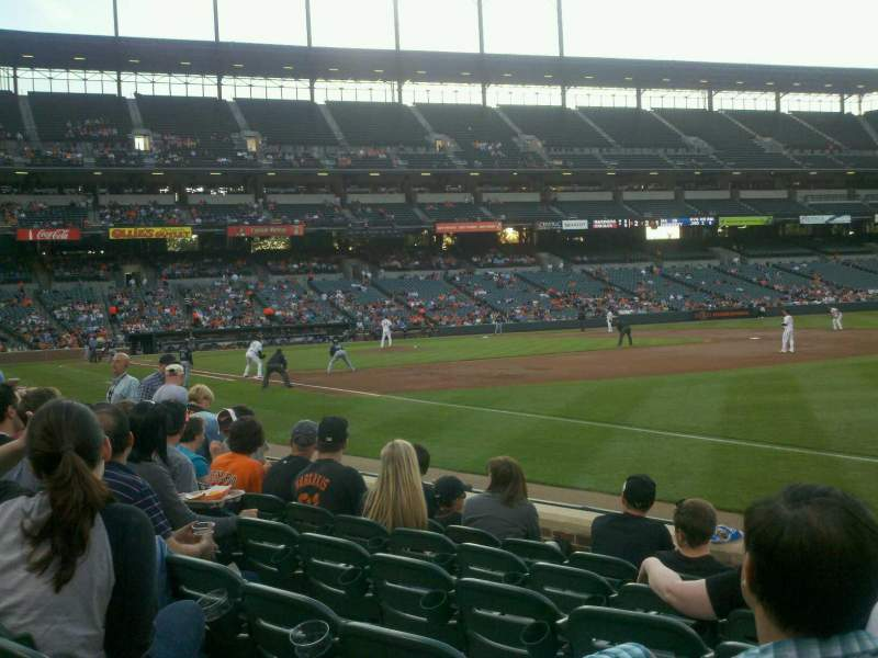 Seating view for Oriole Park at Camden Yards Section 12 Row 6 Seat 4