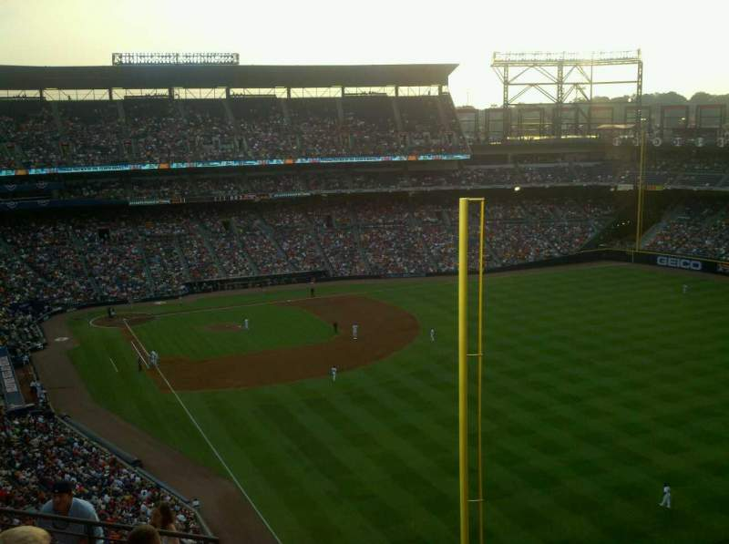 Seating view for Turner Field Section 429 Row 15 Seat 6