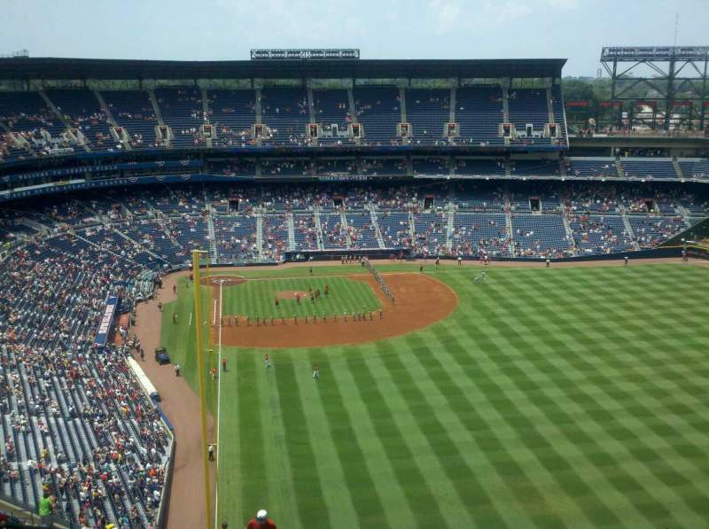 Seating view for Turner Field Section 433 Row 27 Seat 5