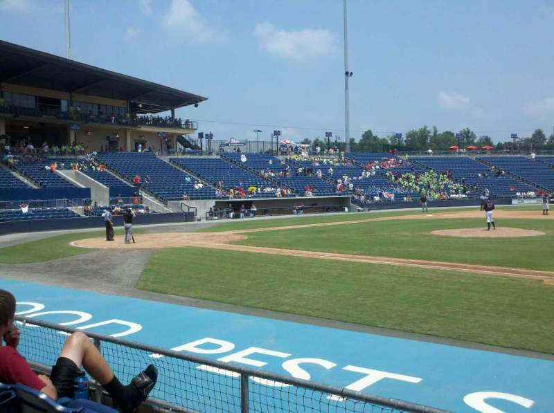 Seating view for Coolray Field Section 109 Row F Seat 14