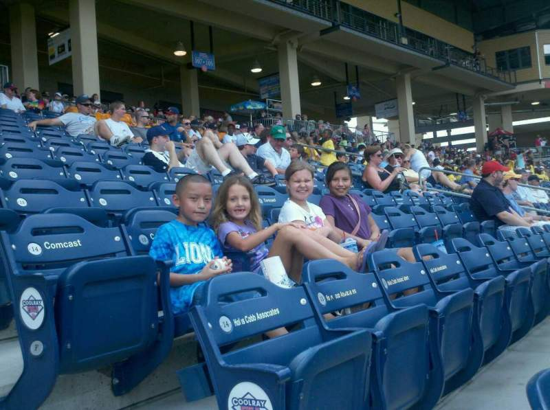 Seating view for Coolray Field Section 111 Row D Seat 1