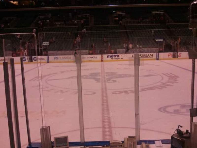 Seating view for BB&T Center Section 119 Row 6 Seat 6