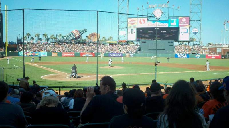 Seating view for AT&T Park Section 113 Row K Seat 5