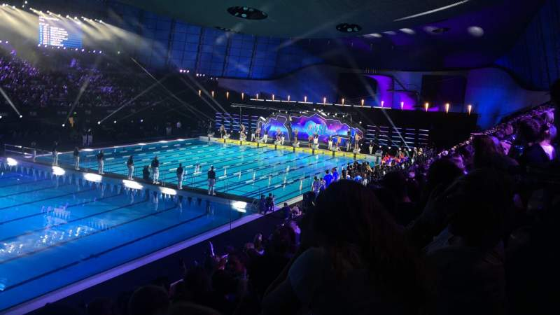Seating view for London Aquatics Centre Section F Row 8 Seat 163