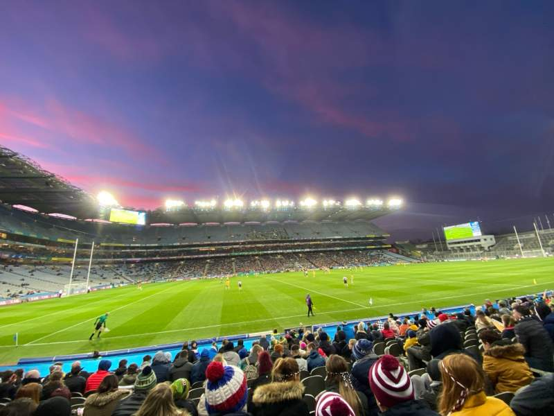 Seating view for Croke Park Section 308 Row R Seat 21