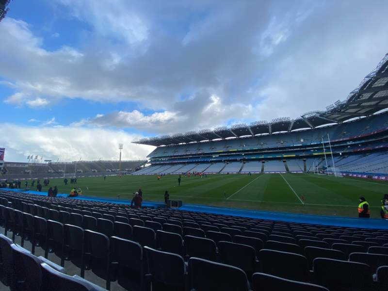 Seating view for Croke Park Section 327 Row P Seat 28