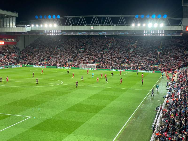 Seating view for Anfield Section 221 Row 3 Seat 23