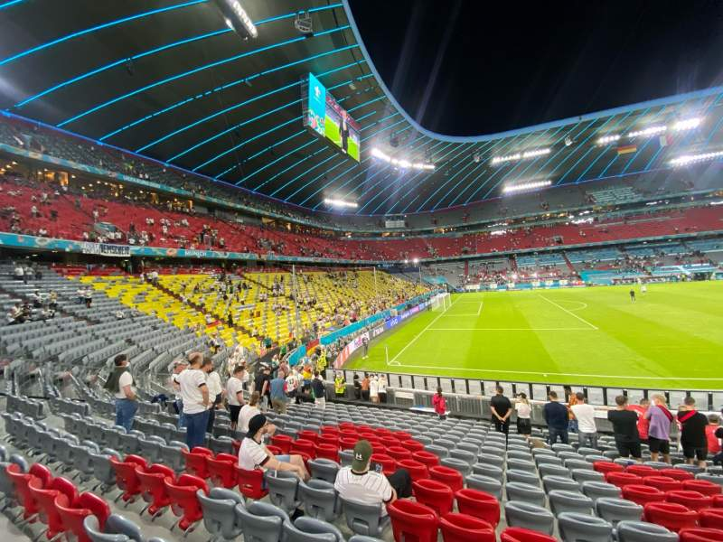 Seating view for Allianz Arena Section 119 Row 17 Seat 2