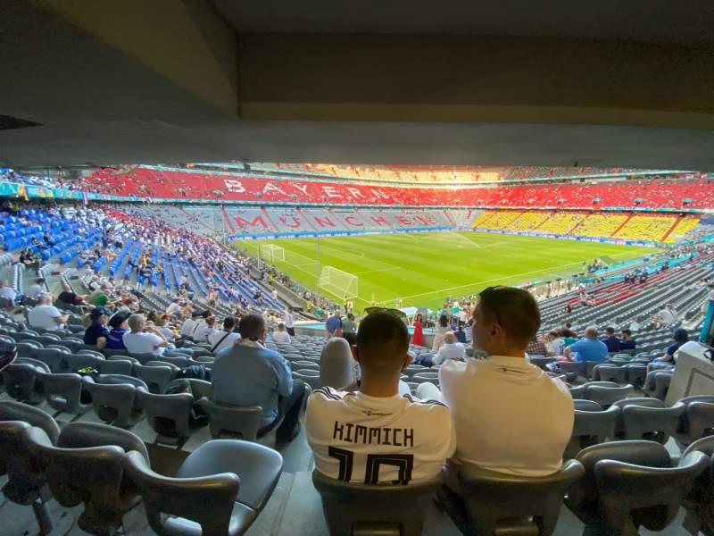 Seating view for Allianz Arena Section X Row X Seat X