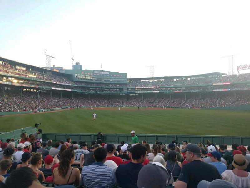 Seating view for Fenway Park Section Bleacher 41 Row 14 Seat 8
