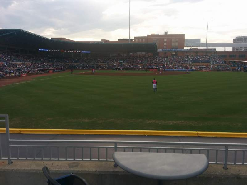 Seating view for Durham Bulls Athletic Park Section 134 Row D Seat 6
