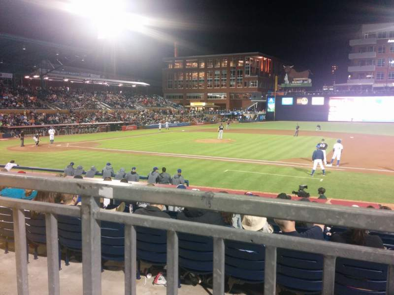 Seating view for Durham Bulls Athletic Park Section 210 Row L Seat 10