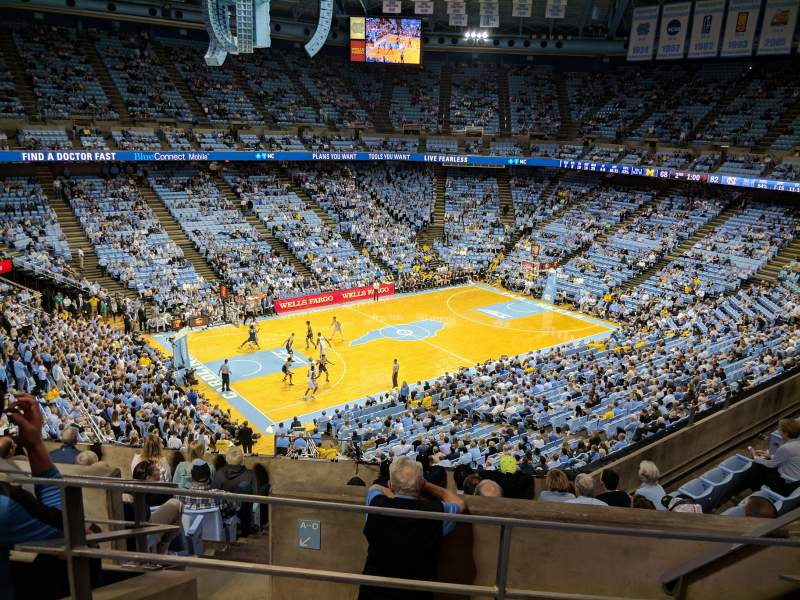 Seating view for Dean E. Smith Center Section 222 Row G Seat 7