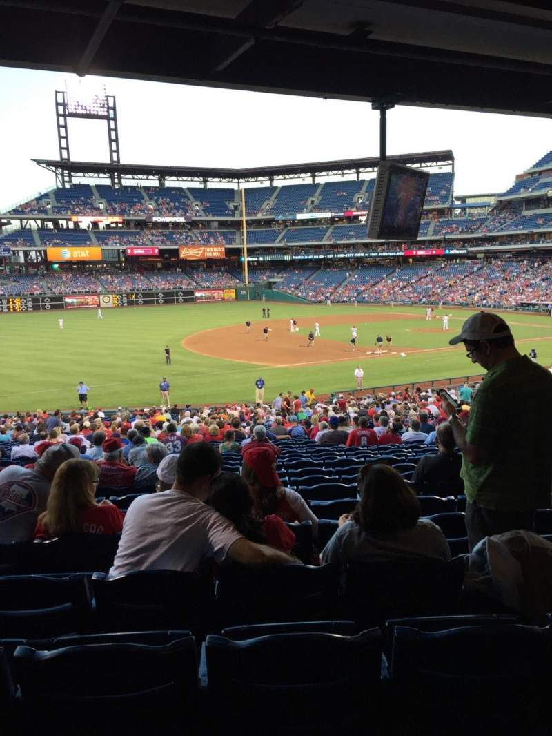 Seating view for Citizens Bank Park Section 134 Row 11 Seat 8
