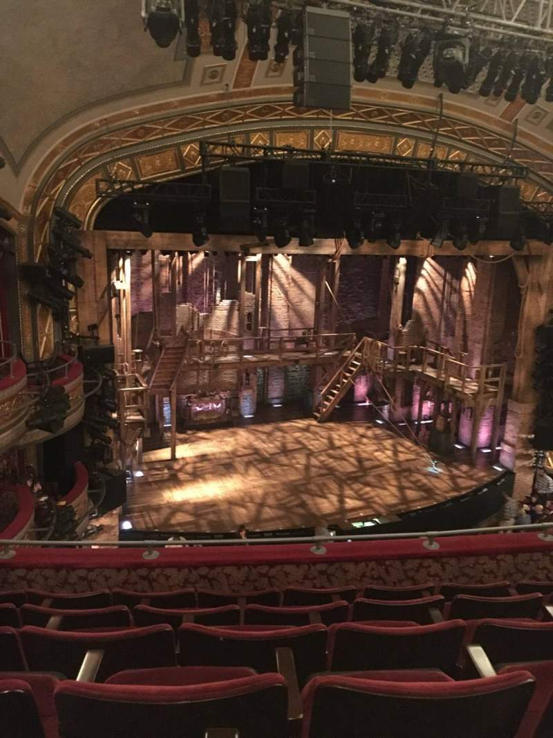 Seating view for Richard Rodgers Theatre Section Front Mezzanine L Row F Seat 17