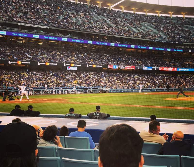 Seating view for Dodger Stadium Section Field Box MVP 20 Row C