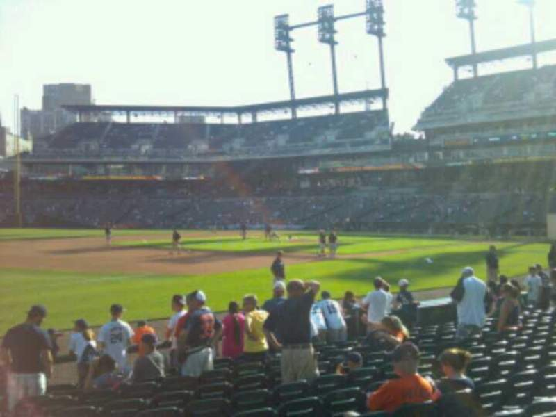 Seating view for Comerica Park Section 138 Row 12 Seat 1