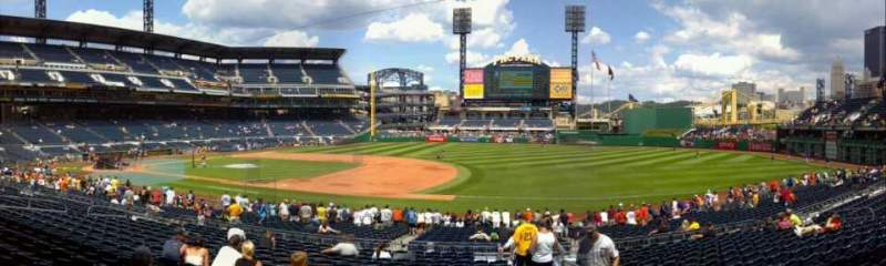 Seating view for PNC Park Section 108 Row R Seat 2