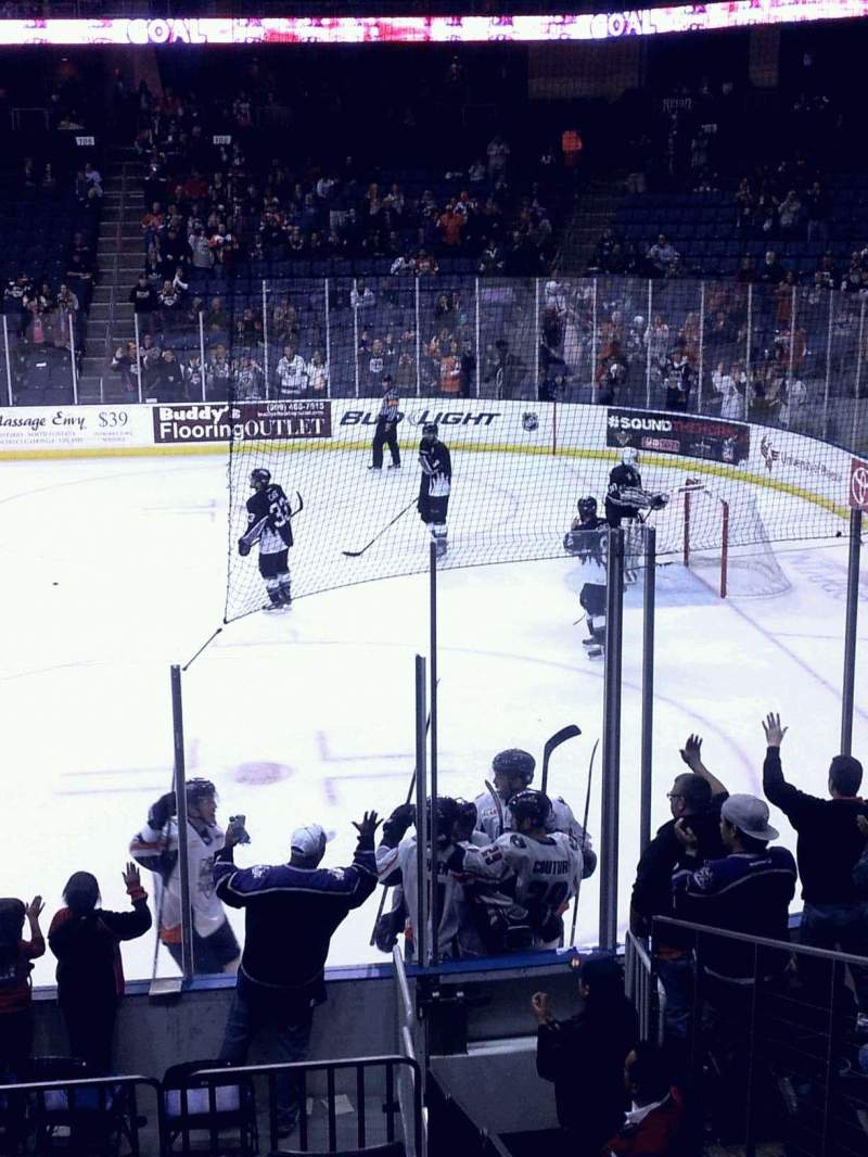 Citizens Business Bank Arena, section: 114, row: K, seat: 18