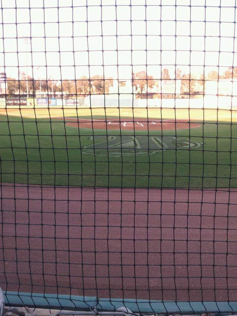 Seating view for lake elsinore diamond Section 101 Row A Seat 6