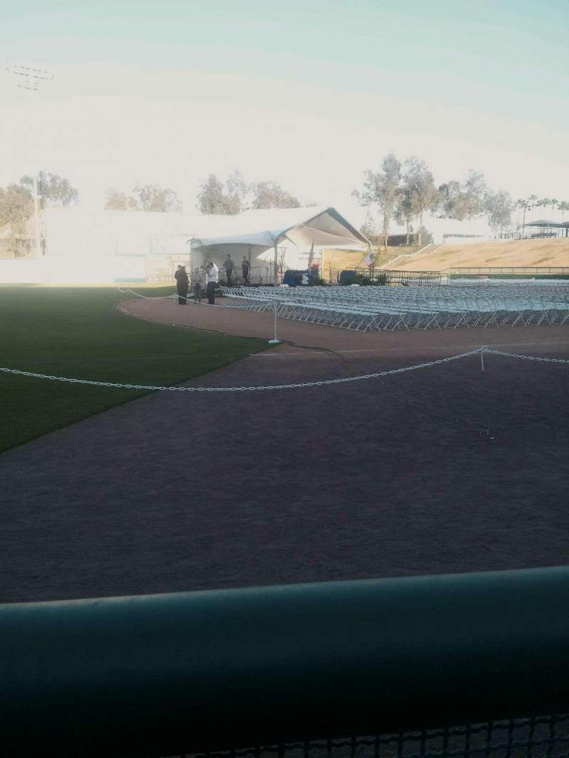 Seating view for Lake Elsinore Diamond Section 117 Row a Seat 1
