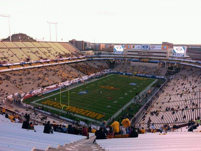 Seating view for Sun Devil Stadium Section 218 Row 27 Seat 19