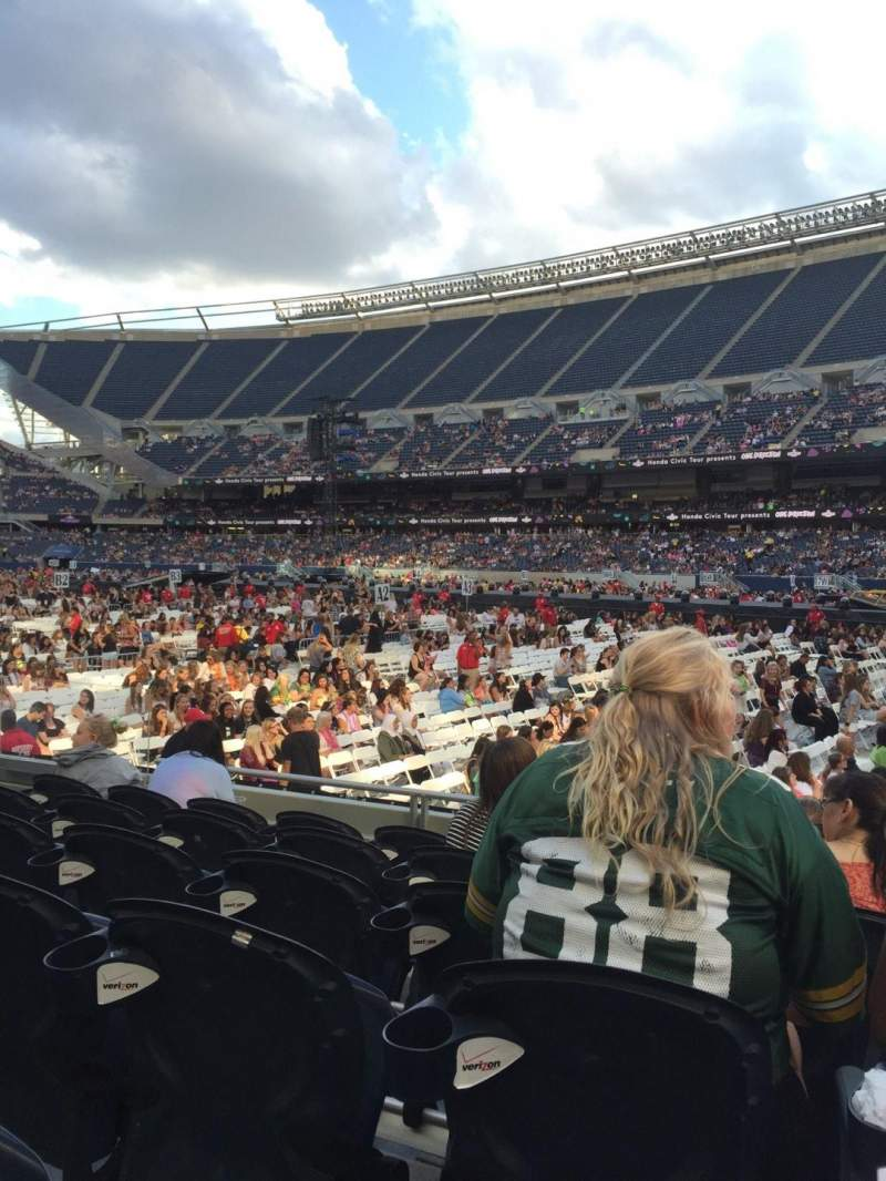 Seating view for Soldier Field Section 103 Row 6 Seat 9