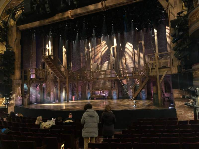 Seating view for Richard Rodgers Theatre Section Orchestra R Row L Seat 10