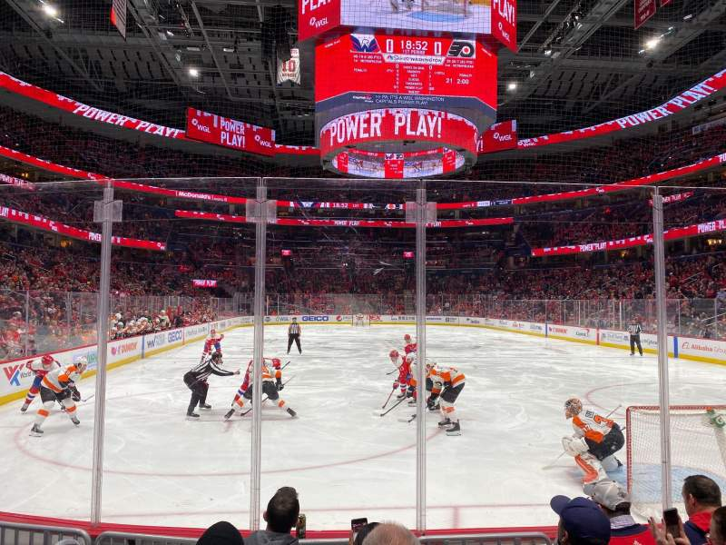 Seating view for Capital One Arena Section 105 Row E Seat 2