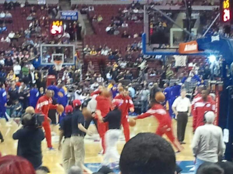 Seating view for Wells Fargo Center Section 106 Row 2 Seat 18